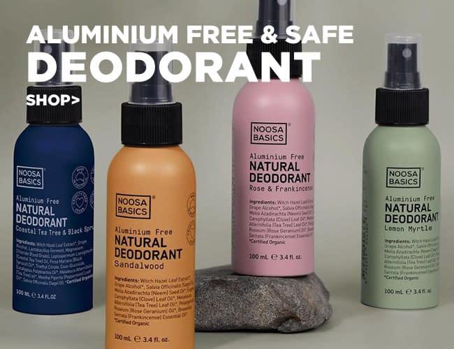 Aluminium free organic deodorant